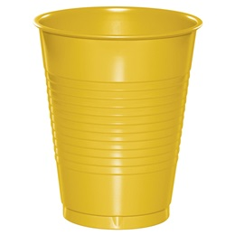 Plastic Cups 16oz - School Bus Yellow