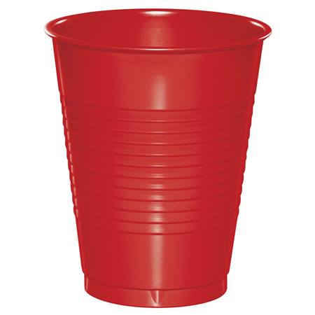 Plastic Cups 16oz - Red
