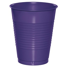 Plastic Cups 16oz - Purple