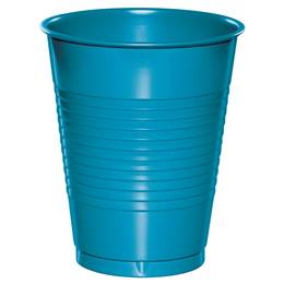 Plastic Cups 16oz - Turquoise
