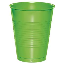 Plastic Cups 16oz - Lime Green