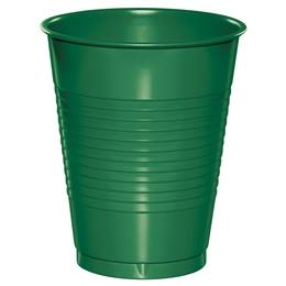 Plastic Cups 16oz - Emerald Green