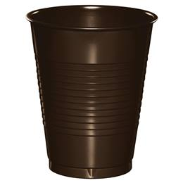 Plastic Cups 16oz - Chocolate