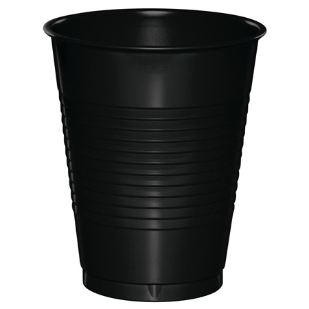 Plastic Cups 16oz - Black Velvet