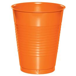 Plastic Cups 16oz - Sunkissed Orange
