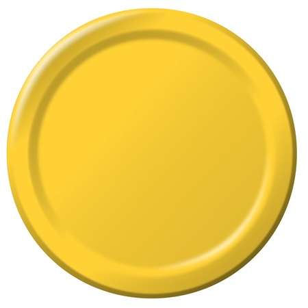 "Paper Dinner Plates 9"" - School Bus Yellow"