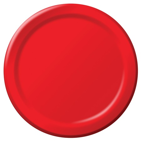 "Paper Dinner Plates 9"" - Red"