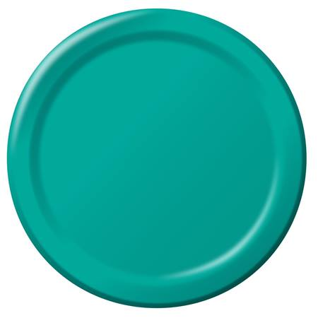 "Paper Dinner Plates 9"" - Teal"