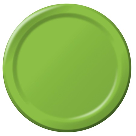 "Paper Dinner Plates 9"" - Lime"