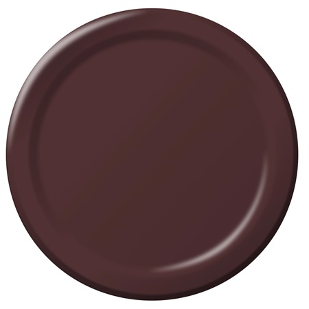 "Paper Dinner Plates 9"" - Chocolate"