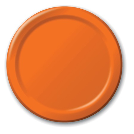 "Paper Dinner Plates 9"" - Sunkissed Orange"