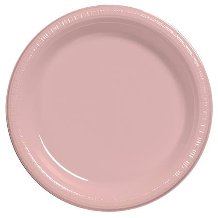 "Plastic Dinner Plates 9"" - Classic Pink"
