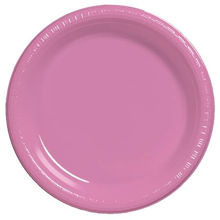 "Plastic Dinner Plates 9"" - Candy Pink"