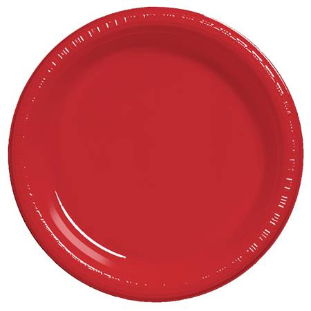 "Plastic Dinner Plates 9"" - Red"