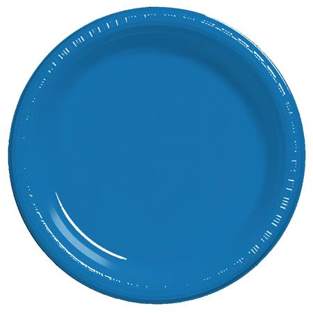 "Plastic Dinner Plates 9"" - True Blue"