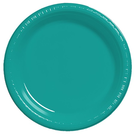 "Plastic Dinner Plates 9"" - Teal"