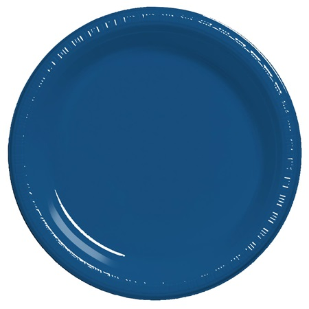 "Plastic Dinner Plates 9"" - Navy Blue"