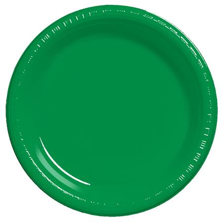 "Plastic Dinner Plates 9"" - Emerald Green"
