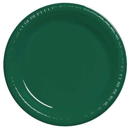 "Plastic Dinner Plates 9"" - Hunter Green"