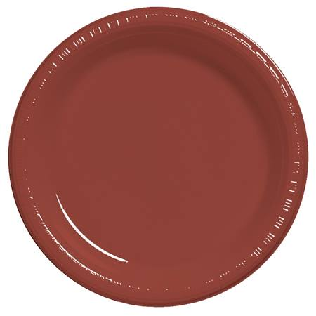 "Plastic Dinner Plates 9"" - Brick"