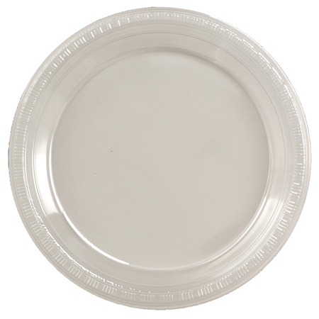 "Plastic Dinner Plates 9"" - Clear"