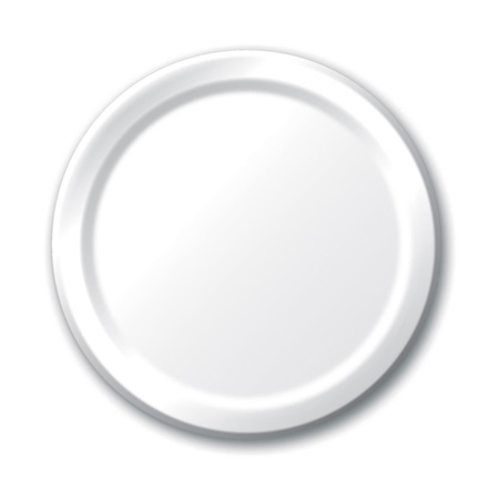 "Paper Luncheon Plates 7"" -White"
