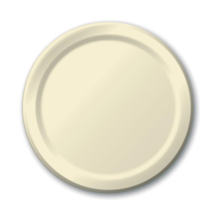 "Paper Luncheon Plates 7"" -Ivory"