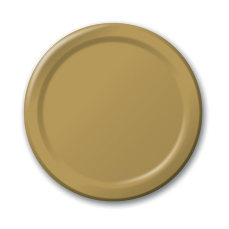 "Paper Luncheon Plates 7"" -Glittering Gold"