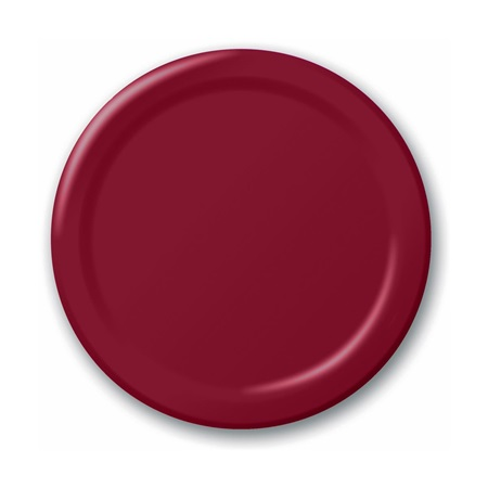 "Paper Luncheon Plates 7"" -Burgundy"