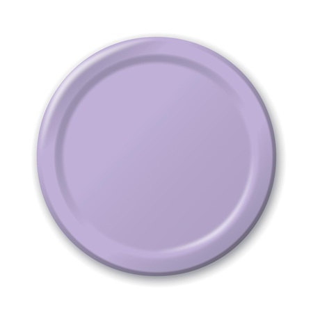 "Paper Luncheon Plates 7"" -Lavender"