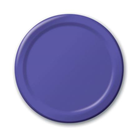 "Paper Luncheon Plates 7"" -Purple"