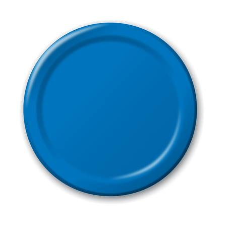 "Paper Luncheon Plates 7"" -True Blue"