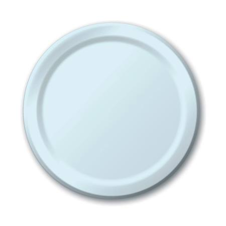 "Paper Luncheon Plates 7"" -Pastel Blue"