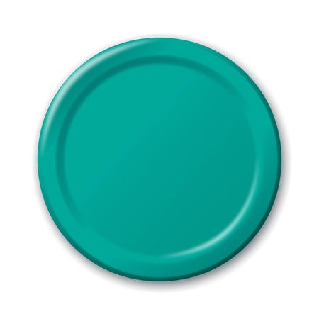 "Paper Luncheon Plates 7"" -Teal"