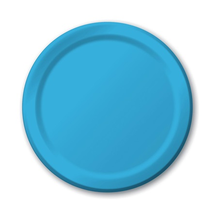 "Paper Luncheon Plates 7"" -Turquoise"