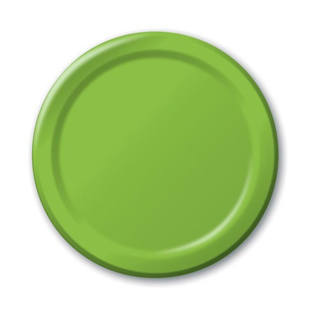 "Paper Luncheon Plates 7"" -Lime"