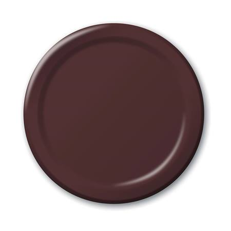 "Paper Luncheon Plates 7"" -Chocolate"