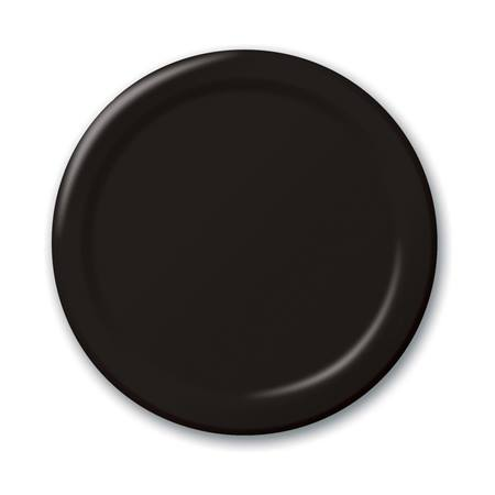 "Paper Luncheon Plates 7"" -Black"