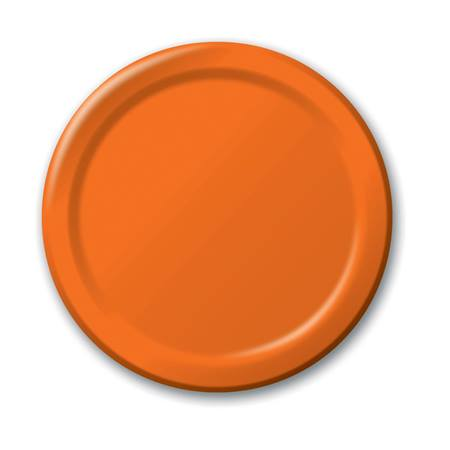 "Paper Luncheon Plates 7"" -Sunkissed Orange"