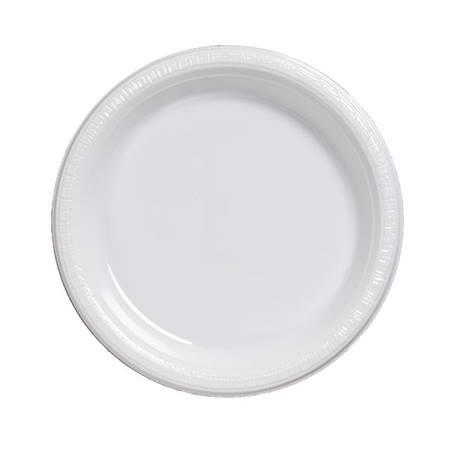 "Plastic Luncheon Plates 7"" - White"
