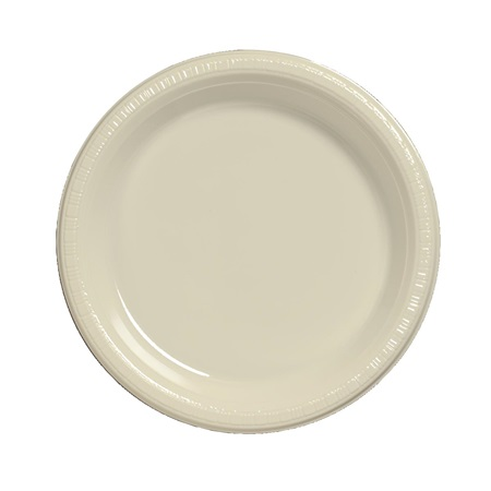"Plastic Luncheon Plates 7"" - Ivory"
