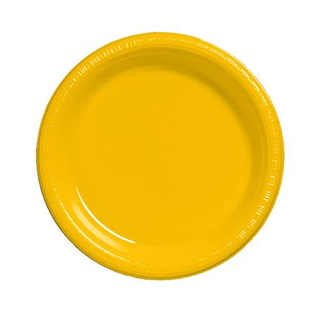 "Plastic Luncheon Plates 7"" - School Bus Yellow"