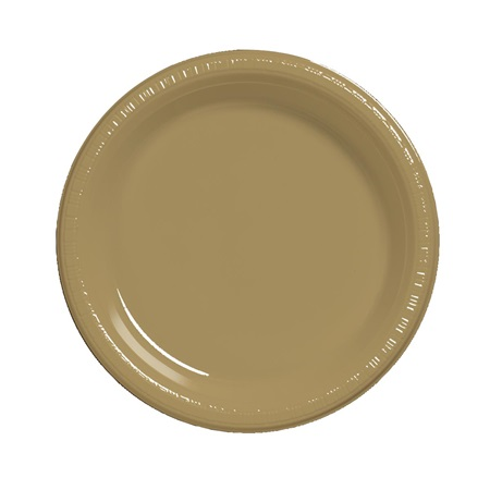 "Plastic Luncheon Plates 7"" - Glittering Gold"