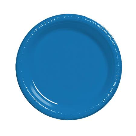 "Plastic Luncheon Plates 7"" - True Blue"