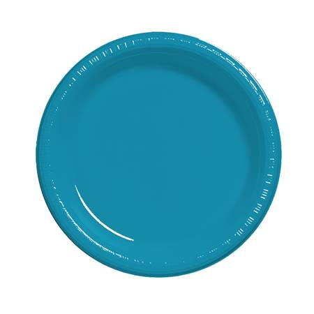 "Plastic Luncheon Plates 7"" - Turquoise"
