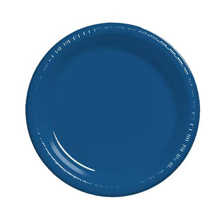 "Plastic Luncheon Plates 7"" - Navy Blue"