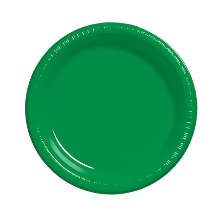 "Plastic Luncheon Plates 7"" - Emerald Green"
