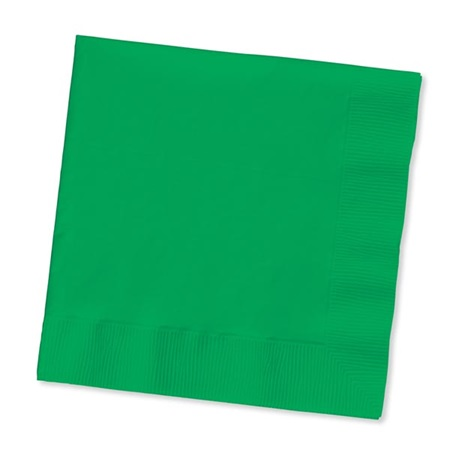 Beverage Napkin (PKG/50) - Emerald Green