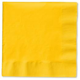 Lunch Napkin (PKG/50) - School Bus Yellow