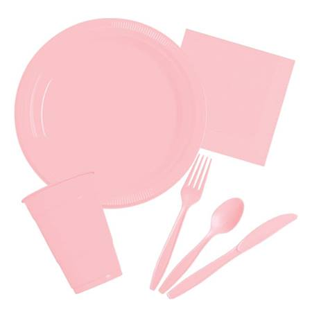 Plastic Party Pack in Pink